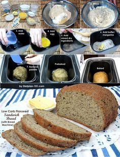 Low Carb Flaxseed Sandwich Bread (with Bread Machine) Recipe | Dietplan-101.com