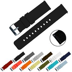 BARTON Quick Release - watch band, on amazon, BLACK, 20 mm $13.85