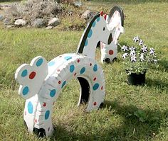 20 Smart Ways to Use Old Tires Tire Playground, Outdoor Playground, Outdoor Play Areas, Outdoor Toys, Tired Animals, Tire Craft, Reuse Old Tires, Recycled Tires, Tire Garden
