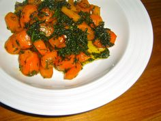 Honey butter glazed Carrots with Carrot tops