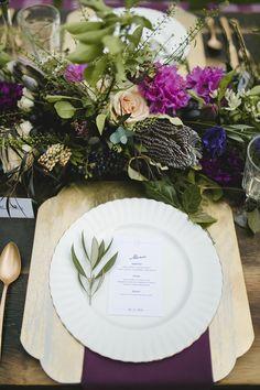 purple wedding ideas - photo by Simply Rose Photography http://ruffledblog.com/golden-plum-garden-wedding