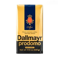 Dallmayr Prodomo Coffee is specially processed to remove irritants and bitterness while retaining its full measure of stimulating caffeine.