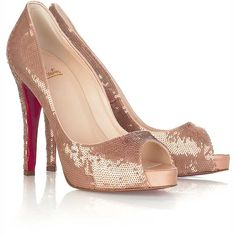 "Christian Louboutin Pumps...Sparkly ones and black....its a long shot...but that is why they are on my ""WISH"" list."