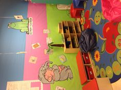 Our classroom library :)