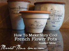 How To Make Very Cool French Flower Pots Tutorial