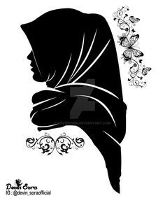 Silhouette hijab girl by devinsora · colorful muslim couple Couple Silhouette, Girl Silhouette, Black Silhouette, Hijab Anime, Anime Muslim, Hijabi Girl, Girl Hijab, Hijab Logo, Hijab Drawing