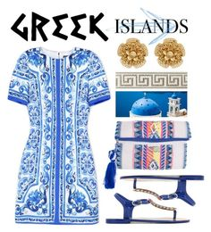 """Pack and Go: Greek Islands"" by miee0105 ❤ liked on Polyvore featuring Dolce&Gabbana, Miriam Haskell, Packandgo and greekislands"