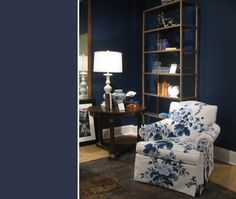 I am a deep lover of navy and this shade of midnight/drawing room blue. White is the ultimate accomplice in this design.