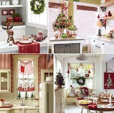 cozinhas decoradas para o natal