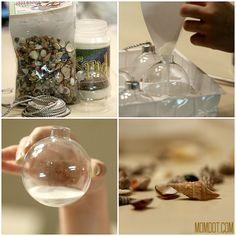 Easy coastal Christmas Ornament @ momdot.com #christmas, ornament, craft