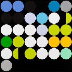 Sarah Morris Painting Marco Rio Housepaint Geometric 2013