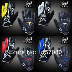 Free shipping New silicone FOX riding gloves warm gloves full finger gloves racing gloves winter anti-slip cutting