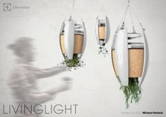 Bio-powered Luminaire and Herb Garden for Indoor Use - LivingLight