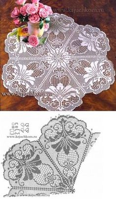 This Pin was discovered by Ale doily chart hard to read Filet Crochet: several vintage style patterns Free Crochet Doily Patterns, Crochet Doily Diagram, Crochet Chart, Crochet Motif, Crochet Designs, Crochet Lace, Crochet Solo, Filet Crochet, Thread Crochet
