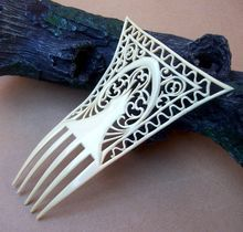 Art Deco Hair Comb French Ivory Tall Hair Accessory