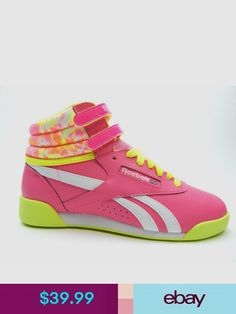 88674857ff Reebok classic junior pink yellow white v72761 girls shoes size 4.5