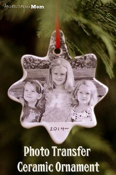 Helping Kids Grow Up: How To Make A Photo Ceramic Ornament