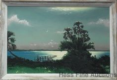 Lg Orig Sam Newton Florida Highwaymen Rose Sunset African American Painting 1of3 #Impressionism