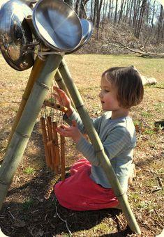 Nature Activities, Sensory Activities, Activities For Kids, Natural Outdoor Playground, Outdoor Fun, Outdoor Classroom, Classroom Fun, Reggio, Lets Play Music