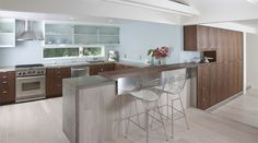 Kitchen of the Encinitas Residence (by Atelier KS, Cabinets by Chris Allen)