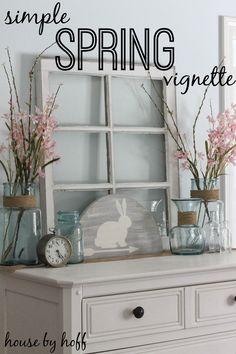 Simple Spring Vignette - House by Hoff