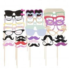 58pcs Party DIY Photo Booth Props Mask Glasses Mustache On A Stick Wedding    Linio Peru 1f70576b6d