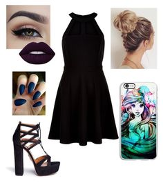 """Untitled #220"" by xox-calumsgxrl on Polyvore featuring New Look, Lime Crime, Samsung and Aquazzura"