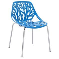 Stencil Chair in Blue Plastic   Overstock.com