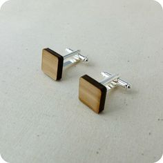 Square Cufflinks   One Happy Leaf   Nell and Oll