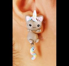 Cute Polymer Clay, Polymer Clay Crafts, Handmade Polymer Clay, Polymer Clay Jewelry, Cute Jewelry, Jewelry Crafts, Beaded Jewelry, Handmade Jewelry, Diy Clay Earrings