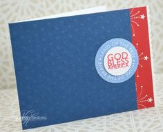 God Bless America Card by Nichole Heady for Papertrey Ink (May 2013)