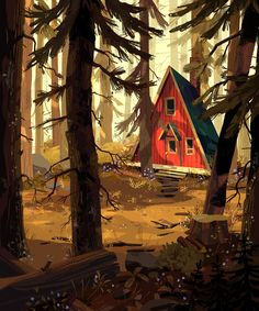 "Check out this @Behance project: ""A Cabin in the Woods"" https://www.behance.net/gallery/49374435/A-Cabin-in-the-Woods"
