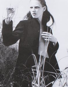 angela lindvall by david sims for jil sander fall winter 1997/98 ad campaign