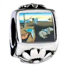 Dali\'s Persistence Of Memory Photo Flower Charms  Fit pandora,trollbeads,chamilia,biagi,soufeel and any customized bracelet/necklaces. #Jewelry #Fashion #Silver# handcraft #DIY #Accessory