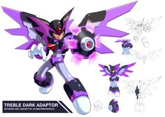 Megaman 11- Treble Dark Adaptor by ultimatemaverickx.deviantart.com on @DeviantArt