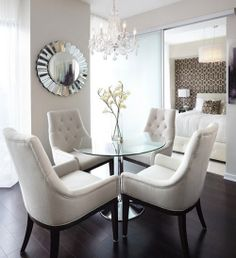 round table and cream white chairs
