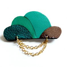 Cloud Brooch in gree