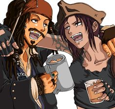 Black Lagoon Revy Pirates of the Caribbean Captain Jack Sparrow / 962x915 Wallpaper