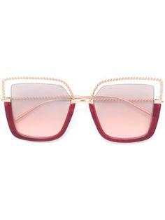 da17cf061b318 Compre Boucheron Eyewear Óculos de sol oversized com armação quadrada.