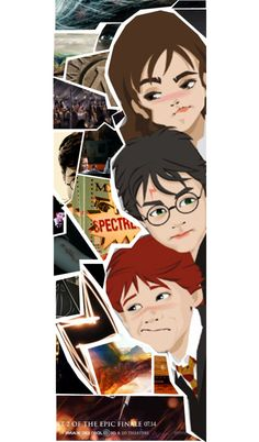 """Harry Potter bookmark"" by ravenclaw-ari ❤ liked on Polyvore"