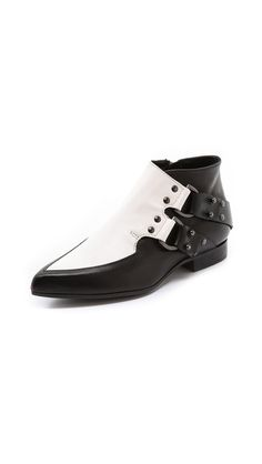 McQ - Alexander McQueen D Ring Flat Booties http://www.shopbop.com/welcome?invitation_code=4242222FHUS