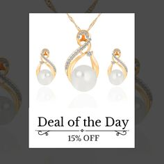 Today Only! 15% OFF this item.  Follow us on Pinterest to be the first to see our exciting Daily Deals. Today's Product: One Day Sale - Pearl Pendant Necklace/Earrings Set Buy now: https://small.bz/AAYABLK #musthave #loveit #instacool #shop #shopping #onlineshopping #instashop #instagood #instafollow #photooftheday #picoftheday #love #OTstores #smallbiz #sale #dailydeal #dealoftheday #todayonly #instadaily