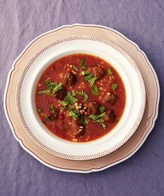 Instead of playing back-up to a grilled cheese sandwich, this hearty tomato soup takes center stage on the table. Filled with homemade meatballs and spiced with harissa, it will keep you warm on even the coldest winter day. Pair with a salad or a side of roasted veggies.