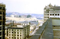 looking north west from on top of the state building broadway and 1st street 1953