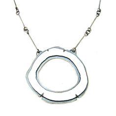 Lisa Crowder: Single Rough Cut Enamel Necklace