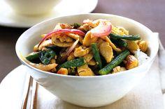 Lemon Garlic Chicken, Bean & Almond Stir-fry Recipe - Taste.com.au