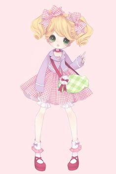 art, kawaii, and lolita image Art Kawaii, Chibi Kawaii, Manga Kawaii, Cute Chibi, Kawaii Anime Girl, Anime Chibi, Chica Anime Manga, Kawaii Illustration, Cute Girl Drawing