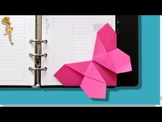 "Origami facile : Marque-page ""Papillon"" très facile - YouTube"