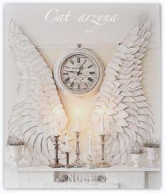 Paper plate angel wings