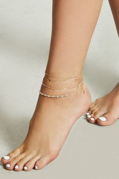 Forever 21 is the authority on fashion & the go-to retailer for the latest trends, styles & the hottest deals. Anklet Jewelry, Anklets, Charm Jewelry, Body Jewelry, Jewellery, Sexy Feet, Hottest Models, Bracelets, Peep Toe